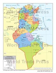 tunisia physical map stockmapagency maps of tunisia offered in poster print by