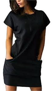 black dress with pockets amazon com