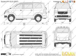 the blueprints com vector drawing suzuki apv glx