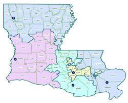 Baton Rouge Zip Code Map by Louisiana Public Service Commissioners