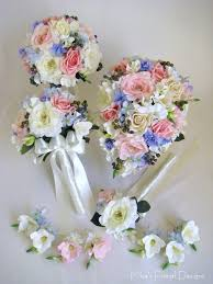 Silk Bridal Bouquet Artificial Wedding Flower Packages