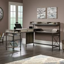 multi tiered l shaped desk brilliant sauder l shaped desk within canal street 420509