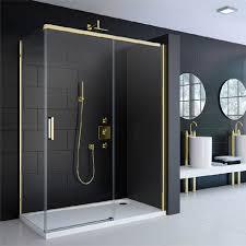 Gold Shower Doors Merlyn 8 Series Colour Sliding Shower Door Gold