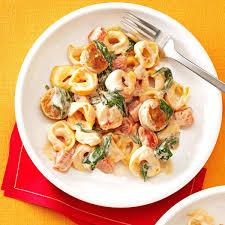 Pasta Sausage Creamy Tomato Tortellini With Sausage Recipe Taste Of Home
