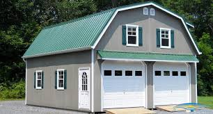 gambrel style homes 2 story prefab garage prefabricated garage horizon structures