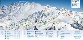 Alps On A Map Pistenplan Almenwelt Lofer österreich 46 Km Piste