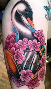 25 swan tattoos tattoofanblog