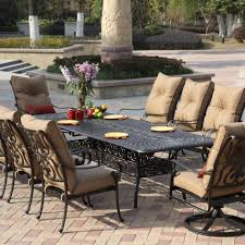 Patio Table Sets Patio 10 Person Outdoor Dining Set With Metal Patio Furniture