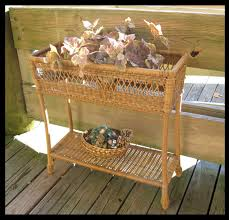 outdoor wicker planter