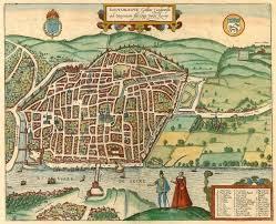 map of rouen antique map of rouen by braun hogenberg sanderus antique maps