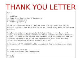 business thank you template letters samples and templates