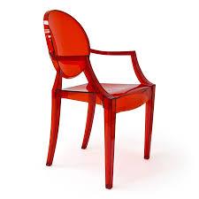 shop aeon furniture specter modern translucent red plastic accent