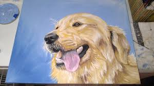 golden retriever practice painting by drawingmaster1 on deviantart