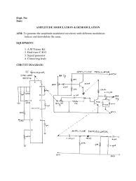 ac lab manual for ece frequency modulation detector radio