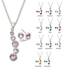 birthstone gift avon journey birthstone swarovski necklace and earring gift set