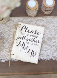 rustic wedding guest book hipster bridal shower keepsake