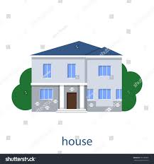 home front view design pictures flat illustration vector design house front stock vector 737189056