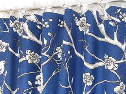 Curtains Birds Theme Navy Blue Curtains Custom Bird Theme Curtain Panels Blue