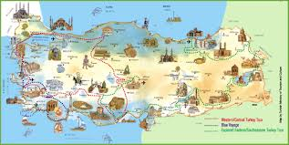 Map Dominican Republic Turkey Attractions Map