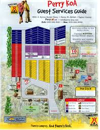 Perry Florida Map by Perry Florida Campground Perry Koa