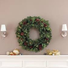 32 battery operated led artificial greenery wreath 45 costco