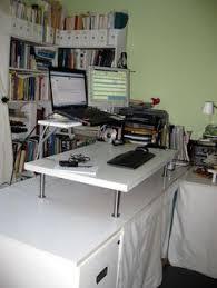 billy standing desk book storage ikea hackers and desks