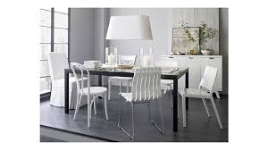 crate and barrel parsons dining table vienna white wood dining chair and cushion crate barrel in baxton