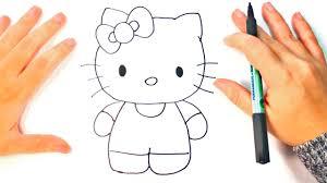 draw kitty kitty easy draw tutorial