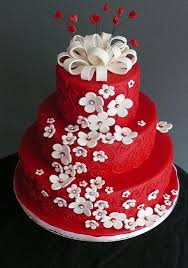 beautiful white and red wedding cake styles time