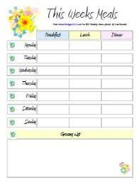free printable menu planners meal planning meal plan
