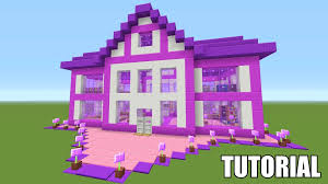 build a dream house minecraft tutorial how to make a barbie dream house survival