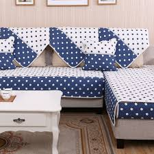 Blue White Cover On Sofa Modern Sofa Covers Antislip Design - Sofa cover designs