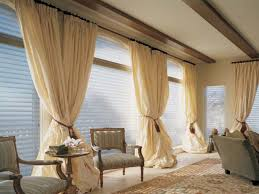 Curtains For Large Windows by Bay Window Treatment Ideas Living Room Treatments Blinds Idolza