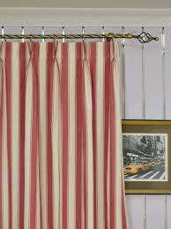 Blue And Red Striped Curtains Moonbay Narrow Stripe Double Pinch Pleat Cotton Curtains
