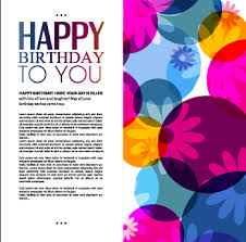 template birthday greeting card vector material 06 u2013 over millions