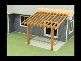 design of a roof addition over an existing concrete patio in