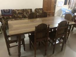 Teak Wood Dining Tables Teak Wood Dining Table For Sale Bangalore