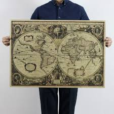 Vintage Antique Home Decor Aliexpress Com Buy Retro World Map Nautical Ocean Sea Maps