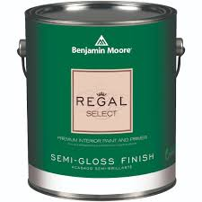 551 01 gallon white benjamin moore regal select semi gloss
