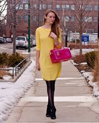 bright yellow shift dress style by joules