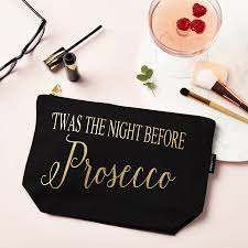 twas the night before prosecco u0027 make up pouch by tillyanna