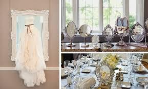 vintage glam wedding wedding reception decor idea mirrors vintage glam weddings 1