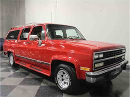 chevrolet suburban red 1985 chevrolet suburban for sale classiccars com cc 957529