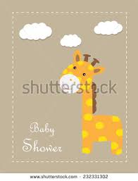 baby shower giraffe baby giraffe stock images royalty free images vectors