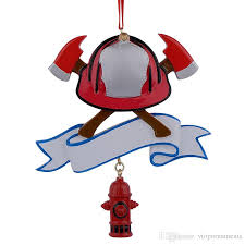 maxora firefighter personalized polyresin ornament as