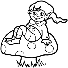 coloring pages of elf elf coloring page for kids free printable picture