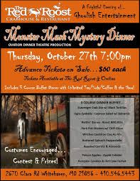 halloween mystery party red roost halloween mystery dinner tickets in whitehaven md