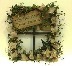 tobacco stick black window with star and burlap by barbara ben