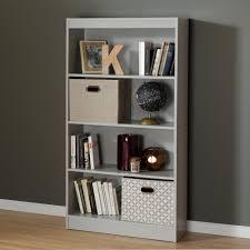 South Shore Shelf Bookcase South Shore Axess Soft Gray Open Bookcase 10136 The Home Depot