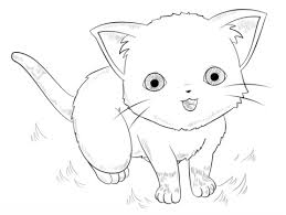 Anime Cat Coloring Pages anime cat coloring page free printable coloring pages